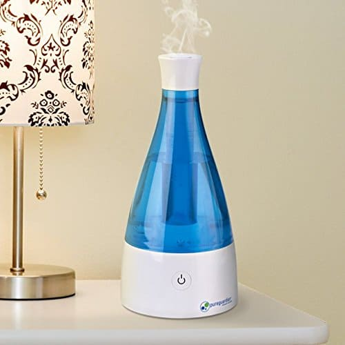 PureGuardian 3L Output per Day Ultrasonic Cool Mist Humidifier, Baby Room, Nursery Humidifier, Portable Humidifier, Travel Humidifier, Small Humidifier, Desk Humidifier, Pure Guardian H920BL