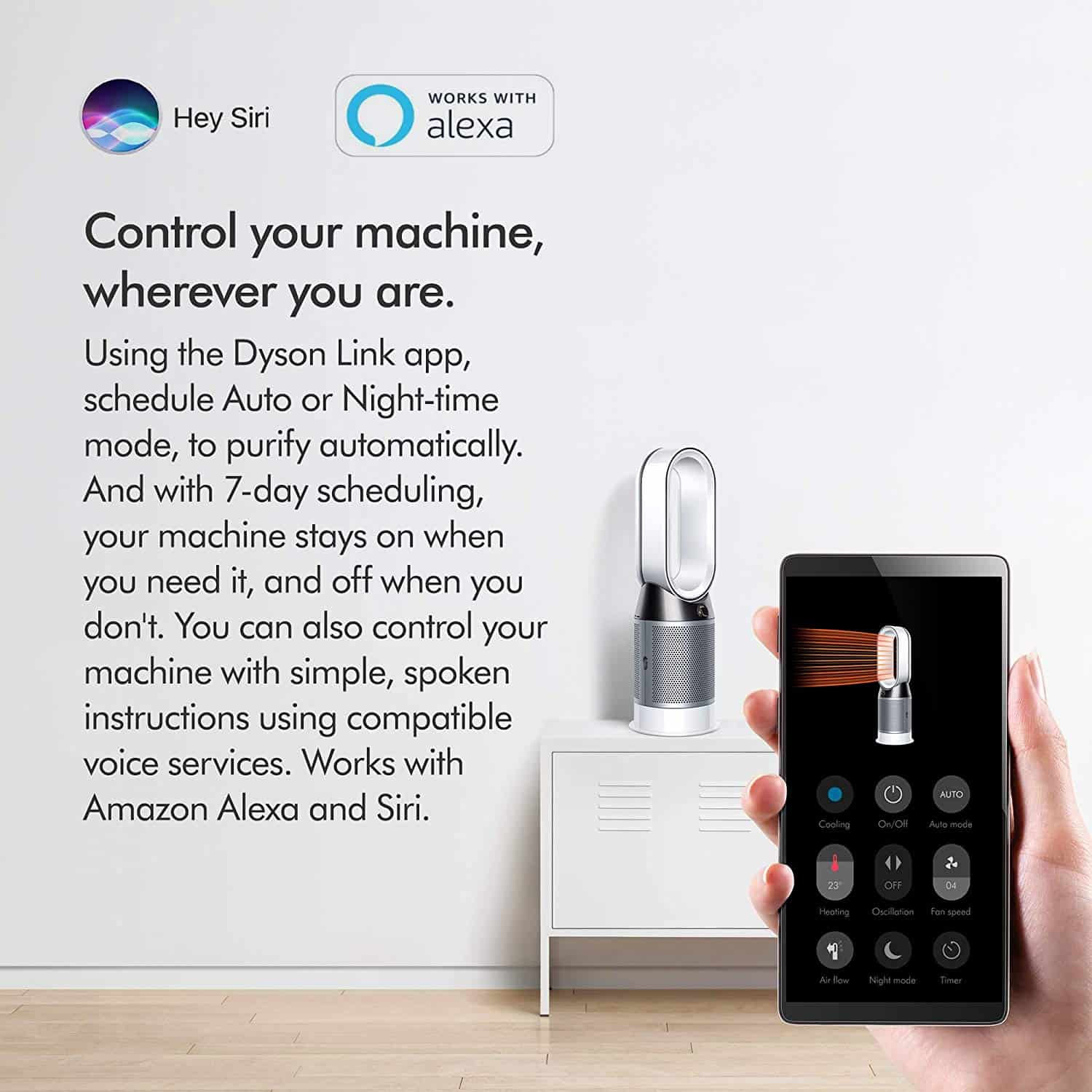 Dyson HP04 Certified Asthma And Allergy Friendly Air Purifier