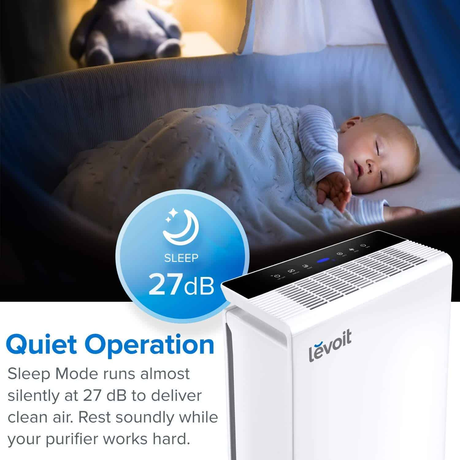 Levoit LV-PUR131 Air Purifier Review noise level