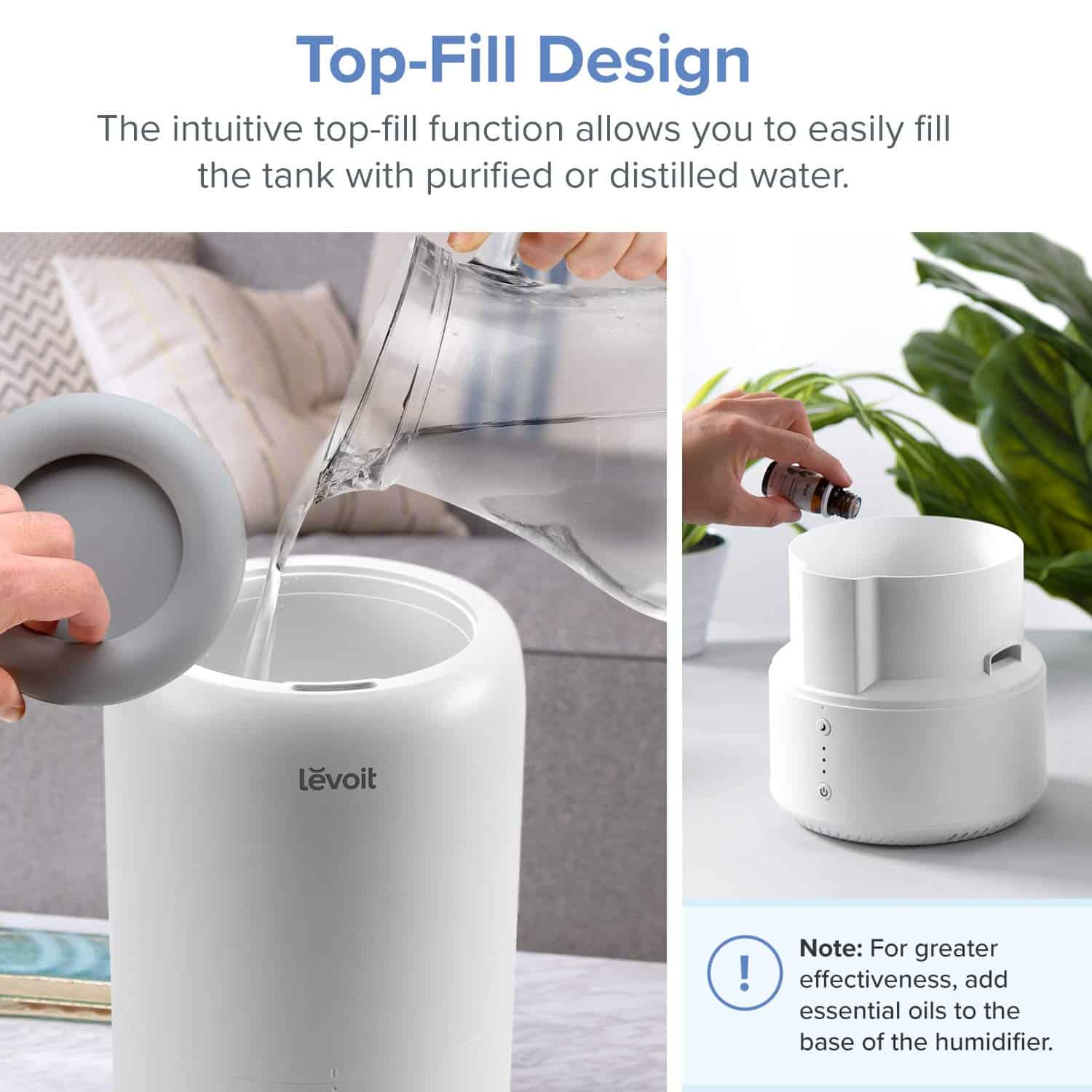 Levoit Dual 100 Ultrasonic Top-Fill Cool Mist 2-in-1 Humidifier Review