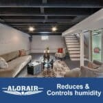 AlorAir 198PPD 90 Pints Basement Dehumidifier