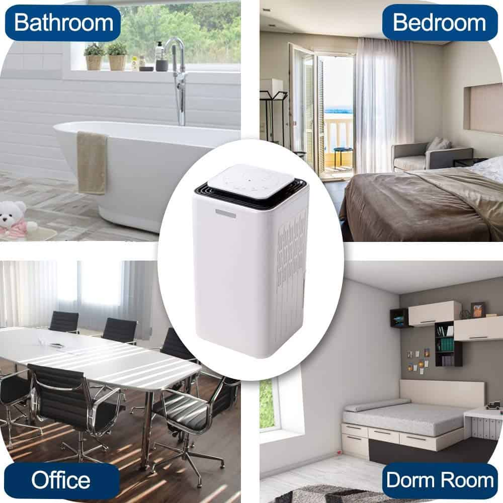 Advantages of 30-pint Dehumidifier. Eurgeen 30 Pint Smart Touch Screen Small Dehumidifier