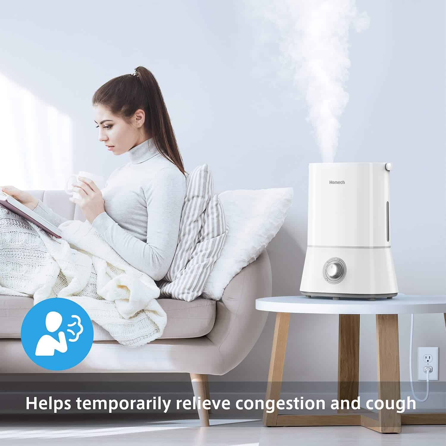 Homech Cool Mist Humidifier for bedroom Review