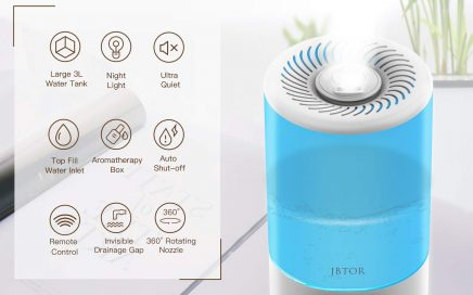 JBTOR Cool Mist Humidifier, 3L Ultrasonic Air Humidifier Essential Oil Diffuser for Large Bedroom Review