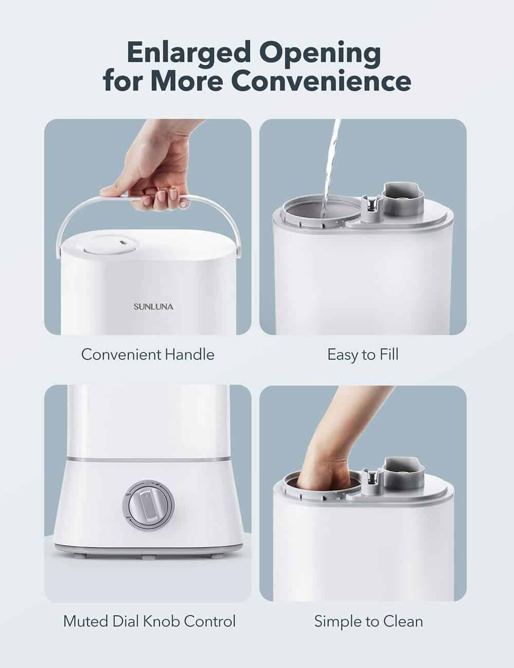 Sunluna SL-AH001 Cool Mist Ultrasonic Humidifier for Baby Review