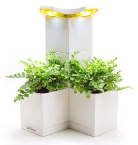 LeGrow Self-Watering Indoor Planter Tower with Light, Humidifier, Phone Charger