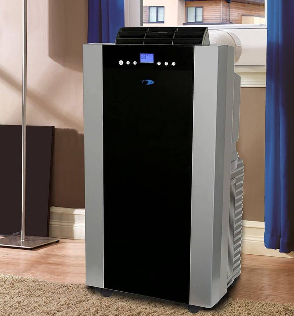 Whynter ARC-14S 14,000 BTU Dual Hose Portable Air Conditioner, Dehumidifier, Fan with Activated Carbon Filter