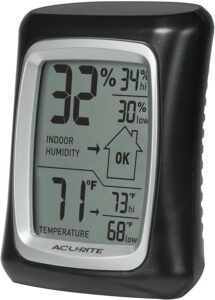 AcuRite 00325 Indoor Thermometer & Hygrometer with Humidity Gauge
