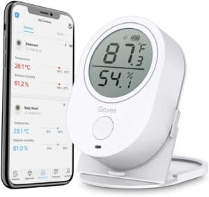 Govee Temperature Humidity Monitor, Indoor Bluetooth Thermometer Hygrometer Gauge