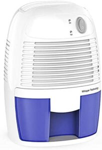 Hysure 500ml Compact dehumidifier for Small Bedroom and Bathroom