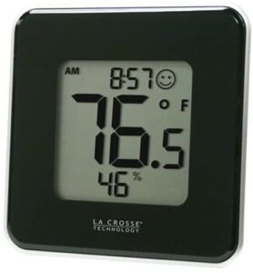 La Crosse Technology 302-604B Black Indoor Digital Thermometer & Hygrometer Station