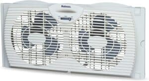 Holmes Window Fan with Twin 6-Inch Reversible Airflow Blades