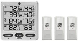 Ambient Weather WS-10-X4 Indoor and Outdoor Thermometer