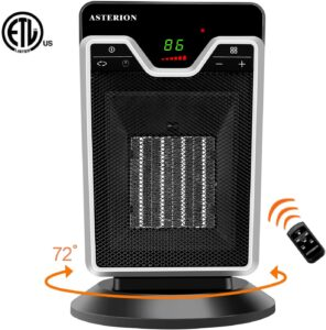 Asterion Portable Ceramic Oscillating Space Heater