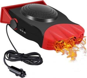 Drtulz 150W 12 V Red 2 in 1 Heating and Fan