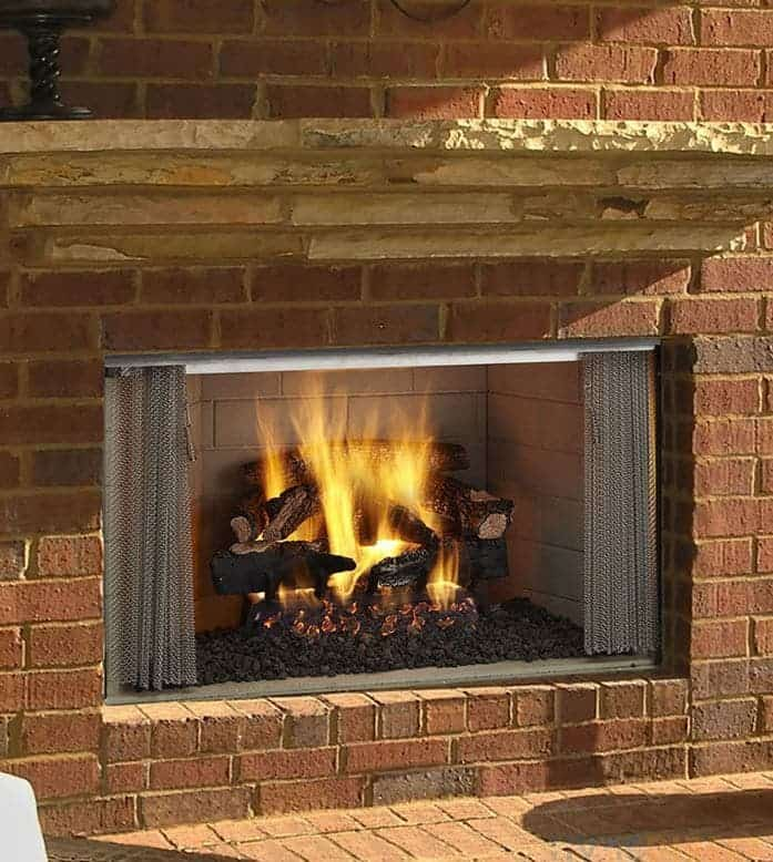 """Majestic Villawood Outdoor Wood Fireplace- 36"""""""